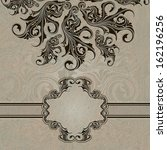 invitation vintage card with... | Shutterstock . vector #162196256