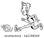 black and white cartoon... | Shutterstock . vector #162198569