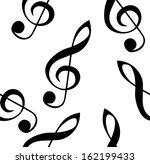 abstract music seamless pattern ... | Shutterstock . vector #162199433
