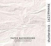 crumpled white craft paper... | Shutterstock .eps vector #1621994446
