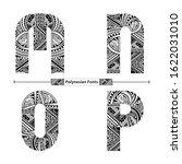 vector graphic alphabet in a... | Shutterstock .eps vector #1622031010