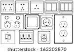 outlets and switches set | Shutterstock .eps vector #162203870