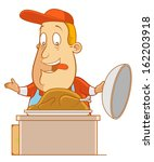 abe the tourist   serving a... | Shutterstock .eps vector #162203918