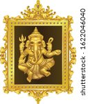 golden ganesha hindu god of... | Shutterstock .eps vector #1622046040