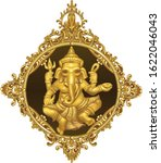 golden ganesha hindu god of... | Shutterstock .eps vector #1622046043