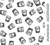 vodka shot seamless pattern on... | Shutterstock .eps vector #1622051020