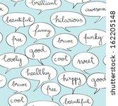 happy speech bubbles pattern... | Shutterstock . vector #162205148