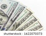 macro shot of a 100 dollar.... | Shutterstock . vector #1622070373