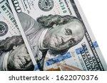 macro shot of a 100 dollar.... | Shutterstock . vector #1622070376