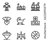 toy icon set include robot car... | Shutterstock .eps vector #1622093479
