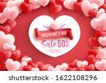 valentine's day sale 50  off...   Shutterstock .eps vector #1622108296