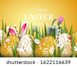 cute easter greeting card with... | Shutterstock .eps vector #1622116639
