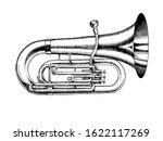 Jazz Tuba In Monochrome...