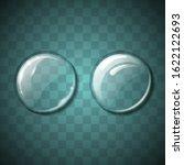 glass sphere bubble fluid glow... | Shutterstock .eps vector #1622122693