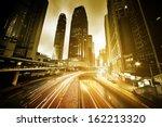 traffic in hong kong at sunset... | Shutterstock . vector #162213320