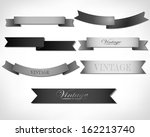 set of retro ribbons and labels.... | Shutterstock .eps vector #162213740