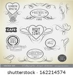 retro calligraphic decoration | Shutterstock .eps vector #162214574