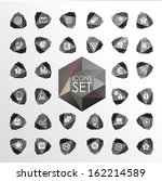 vector polygonal modern icons.... | Shutterstock .eps vector #162214589