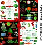 christmas decoration collection ...   Shutterstock .eps vector #162215153