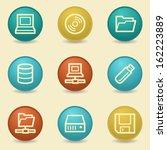 drive storage web icons  retro... | Shutterstock .eps vector #162223889