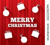 merry christmas greeting card... | Shutterstock . vector #162224294