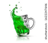 Flying Beer Mug With Green...