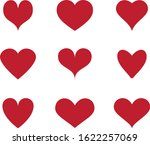 red heart icon vector. flat... | Shutterstock .eps vector #1622257069