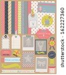 scrapbook design elements ... | Shutterstock .eps vector #162227360