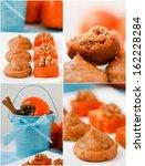 set. persimmon cookies with... | Shutterstock . vector #162228284