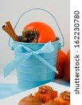 beautiful blue bucket with... | Shutterstock . vector #162230780