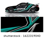 sports car wrapping decal design | Shutterstock .eps vector #1622319040