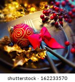 christmas and new year holiday... | Shutterstock . vector #162233570