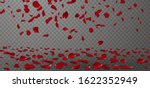 falling red rose petals... | Shutterstock .eps vector #1622352949