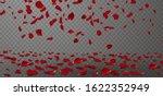 falling red rose petals... | Shutterstock .eps vector #1622352949