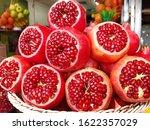 Fresh  Half Cutted  Pomegranate ...
