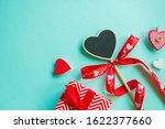 valentine's day concept. top... | Shutterstock . vector #1622377660