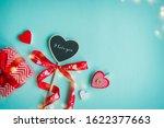 valentine's day concept. top... | Shutterstock . vector #1622377663