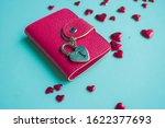 valentine's day concept. top... | Shutterstock . vector #1622377693