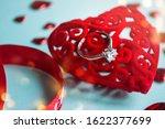 valentine's day concept. top... | Shutterstock . vector #1622377699