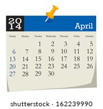 calendar 2014 april | Shutterstock .eps vector #162239990