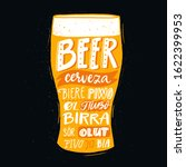 pub poster with beer word in... | Shutterstock .eps vector #1622399953