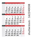 january 2014 three month... | Shutterstock .eps vector #162240038