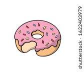 donut with rainbow sprinkles....   Shutterstock .eps vector #1622403979