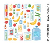 variety of food products ... | Shutterstock .eps vector #1622405146