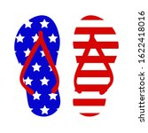 flip flop american flag ... | Shutterstock .eps vector #1622418016