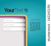 cmyk blue bottom corner edition ... | Shutterstock .eps vector #162242150