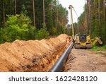 pipelaying crane lowers a...   Shutterstock . vector #1622428120
