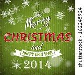 green striped retro christmas... | Shutterstock .eps vector #162245924