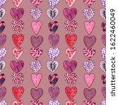 valentine's day digital paper.... | Shutterstock . vector #1622460049