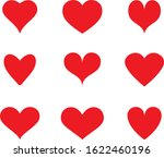 red heart icon vector. flat... | Shutterstock .eps vector #1622460196